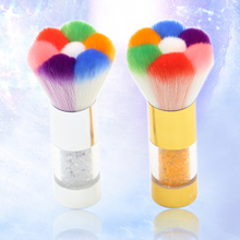 Hot item! Makeup Nail Art Tool Rhinestone Handle Nail Brush Soft Dust Remover Cleaner Brush