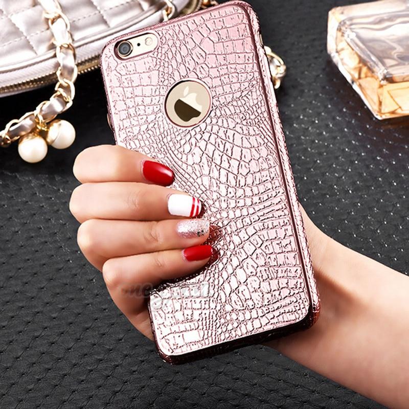 Nuevo lujo electrochapa tpu soft case para apple iphone 6 6s 6 más 6 s 5 5S cont