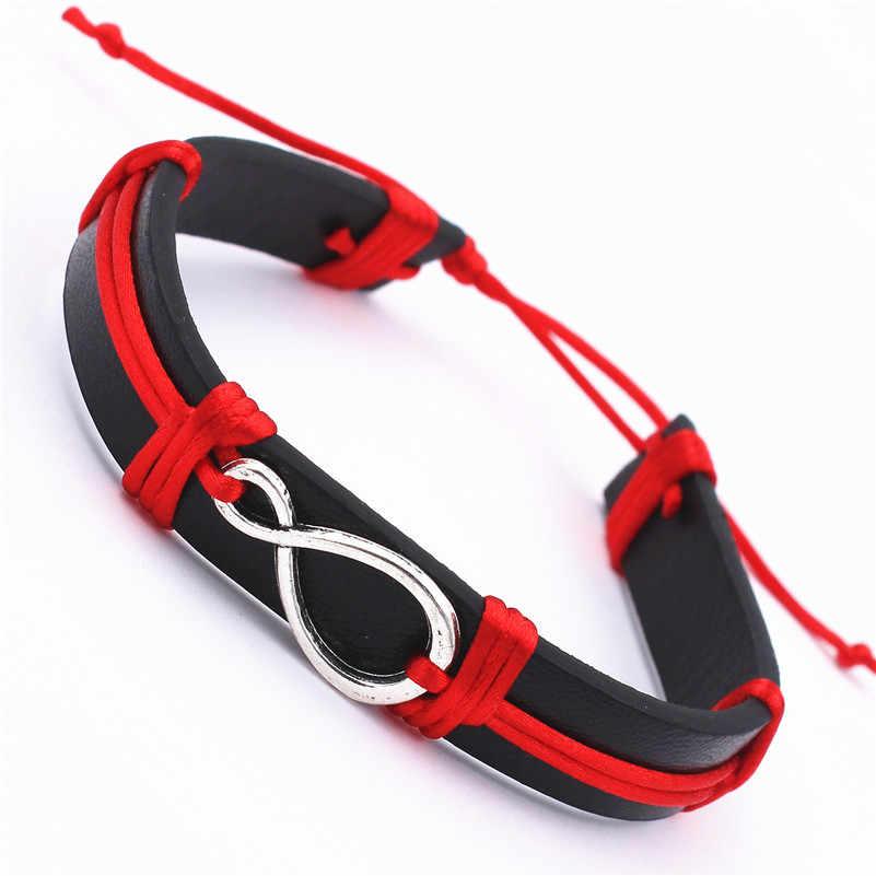 Женские и мужские браслеты с кулоном в форме бесконечности, модные простые металлические браслеты с кулоном, лето 2020