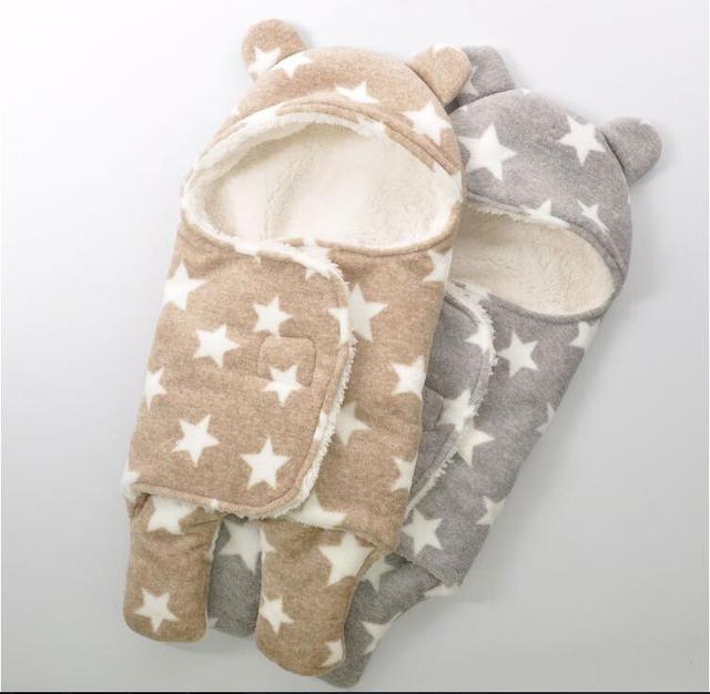 Coral Fleece Newborn Baby Sleeping Bag Baby Blanket