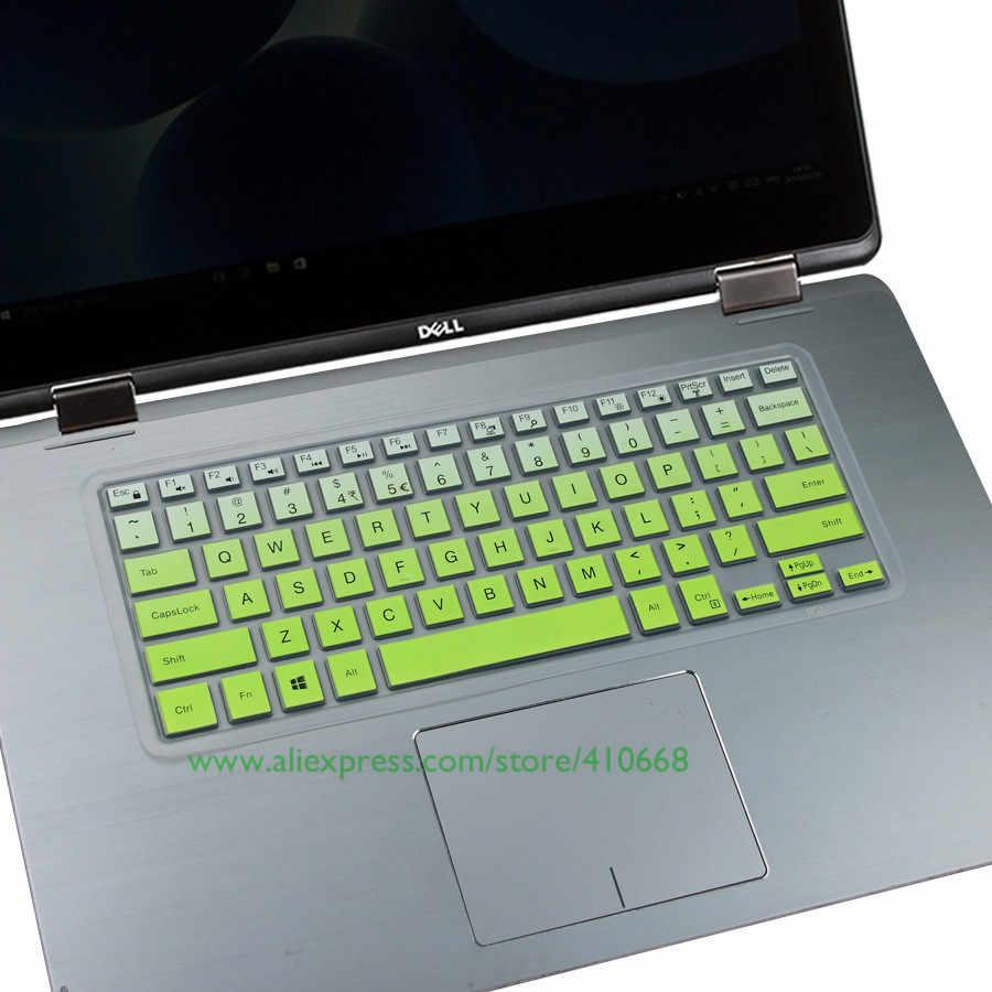 """Colorido de silicona de piel del teclado Protector de cubierta para 2018 Dell Inspiron 13 5000 de 13,3 pulgadas i7370 i7373 5580 de 5482, 3482 14 """"notebook"""