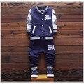 2016 новый Мальчиков одежда набор детей спортивный костюм детей спортивный костюм мальчиков длинные рубашки + брюки gogging толстовка повседневная одежда