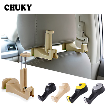 CHUKY Car Back Seat Multifunction Mobile Phone Frame Sundries Storage Hook For Honda Civic 2017 Skoda Octavia a5 Mazda 3 6 CX-5 image