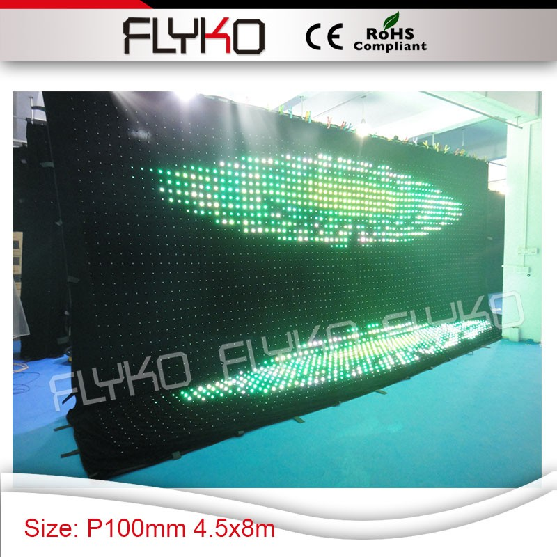 Led Music Color Change Lights Free Shipping Low Cost Big Size 5x8m P10 Curtain For Nightclub Disco Stage Lighting Effect Commercial Lighting