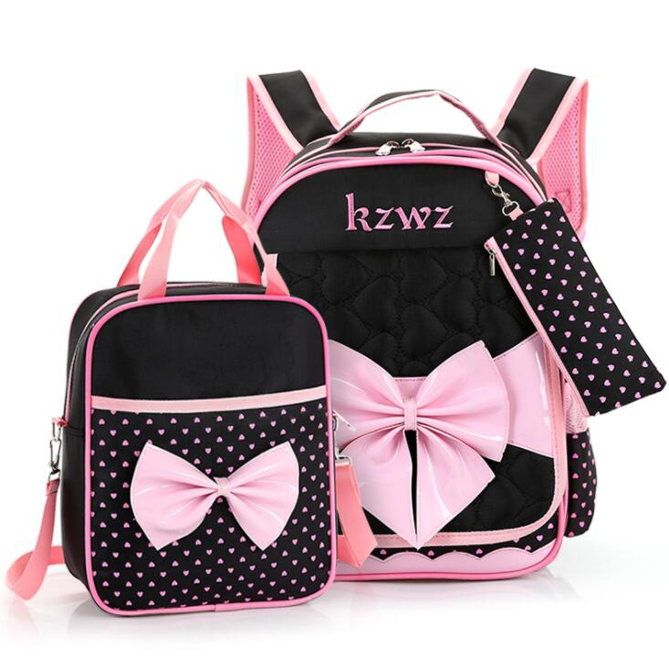 High quality Mochilas Schoolbags Children School Bags For Girls waterproof nylon bow Bac ...