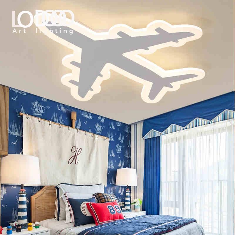 LODOOO Enfants Rêver Avion Moderne Led Plafonniers Pour Enfants Chambre AC85-265V Chambre Décoration Lampe De Plafond Luminaire
