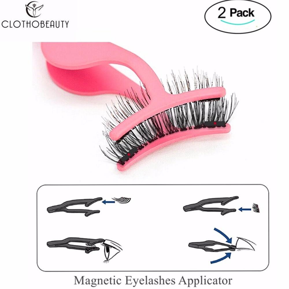 CLOTHOBEAUTY 2Pcs Magnetic Eyelashes Applicator,Magnetic Eyelashes Tweezer False Eyelashes Applicator For Magnet Eyelashes(2TW)