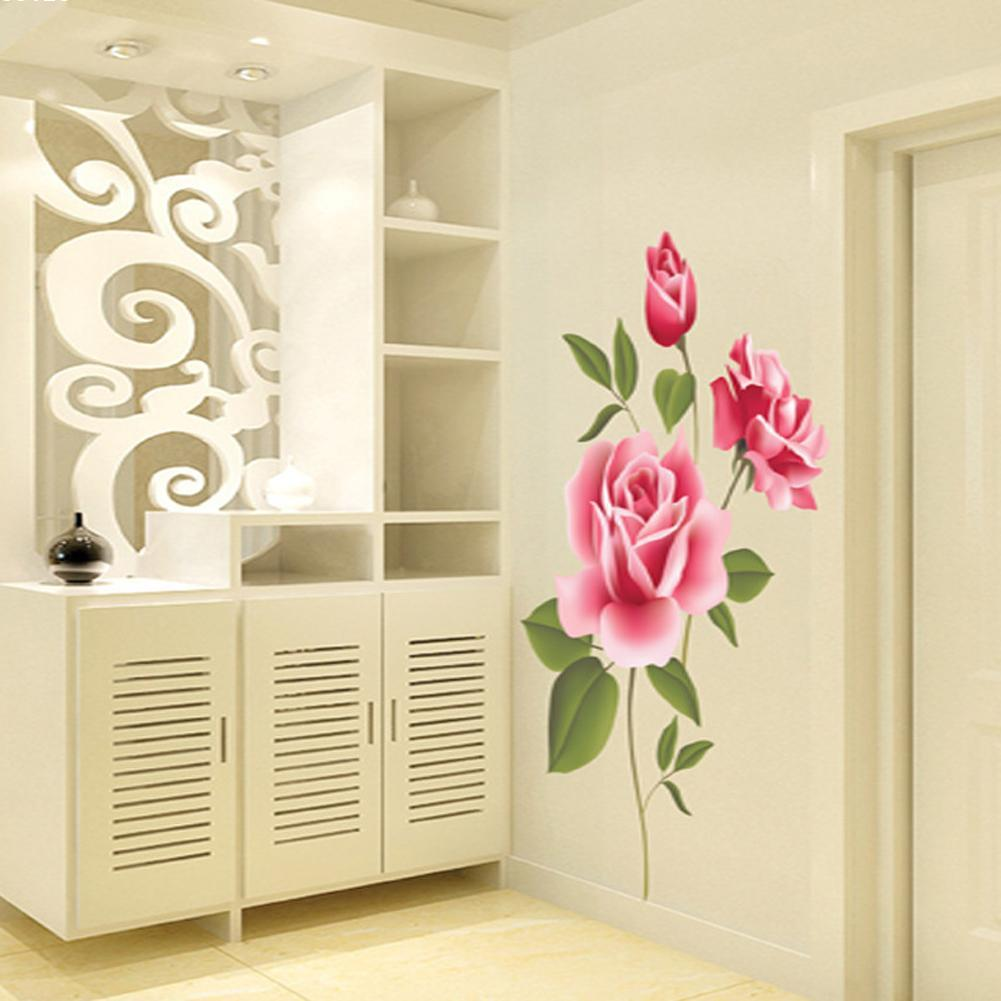 Christmas Rose Flower Wall Stickers