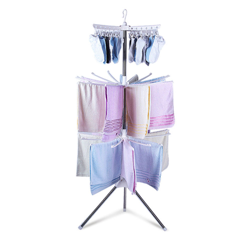 Simple Foldable Towel Rack Floor Stand Drying Rack For Socks Towel Mobile Towel Storag Rack Balcony Hanger Indoor Clothes Rack