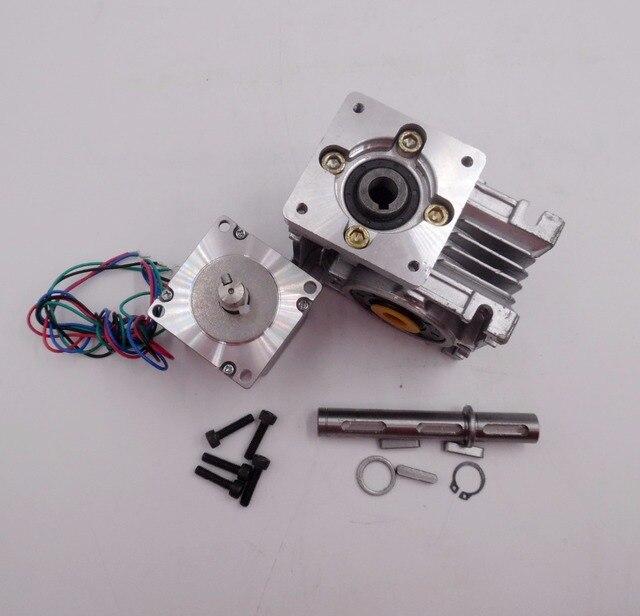 Ratio 20:1 self-lock High-Torque L112mm NEMA23 4.2A RV30 Turbine Worm Gearbox Geared Stepper Motor Decorating machine