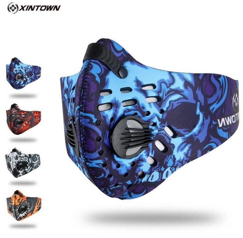XINTOWN Radfahren Staub Maske Outdoor Training Sport Bike Fahrrad Masque Nylon Anti PM2.5 Laufsport Maske Bisiklet Aktive