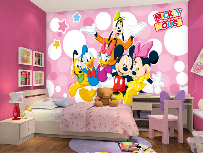Custom papel DE parede infantil,the mouse and the old duck for the children's room boys and girls bedroom wall fabric wallpaper custom papel de parede infantil space shuttle orbiting earth 3d cartoon mural for children room bedroom wall vinyl wallpaper