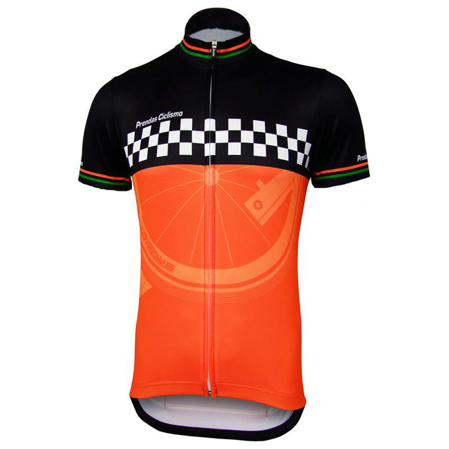 b0718f5ff Cycling jersey men classic jersey black orange white short sleeve cycling bicycle  clothing team jersey cycling wear Customize
