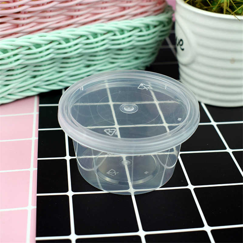 5/10pcs 100ml Organizer Slime Box New Plastic Transparent Slime Containers Storage Box With Lids For Fluffy Clear Slime Mud