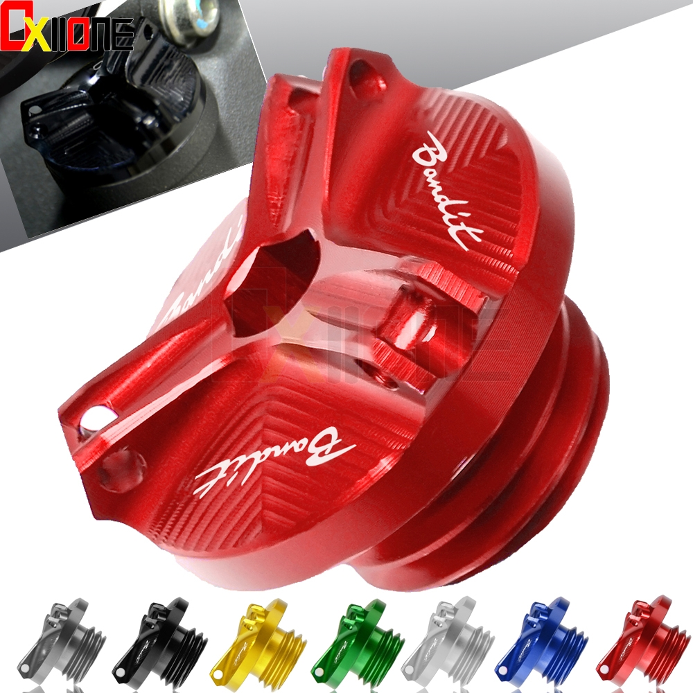 motorcycle m20*2 5 engine oil filter cup plug cover screw moto accessories  for suzuki gsf