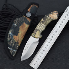 New Survival Knife 440C Steel Blade 58HRC BUCK Pocket Fixed Knifes Hunting Tactical Knives Camping Outdoor EDC Tools Q13