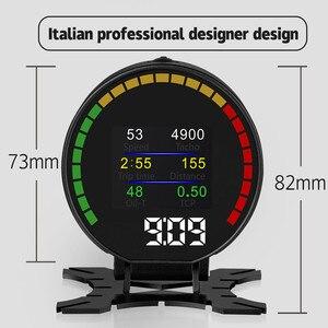Image 4 - GEYIREN P15 head up display hud obd2 temperatur auto KM/h MPH Turbo Boost Druck geschwindigkeit projektor auf die windschutzscheibe für auto HUD