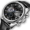 Мужские наручные часы BENYAR  модные кварцевые часы с кожаным ремешком  2019