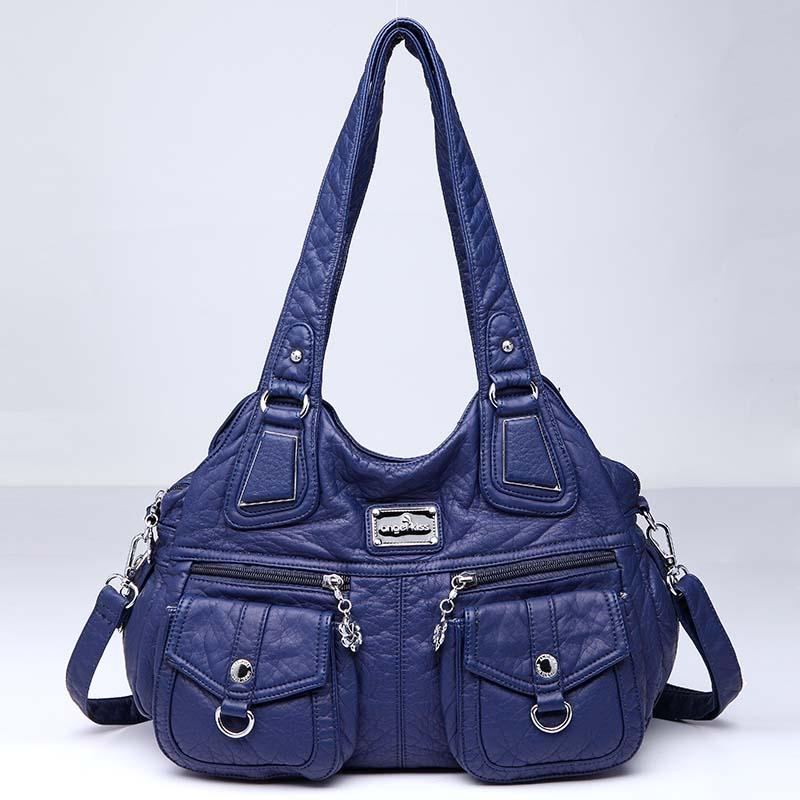 Yanxi Heißer Verkauf Frauen Casual Handtaschen Hohe Qualität Öl Wachs Leder Weibliche Schulter Tasche Designer Damen Vintage Umhängetaschen Große Damentaschen