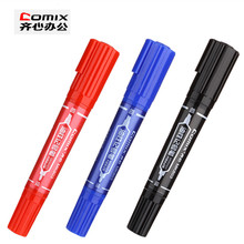 3 color Double head tip colored Big marker pen,fast dry permanent sign marker pen,for School Office drawing Hook line marking
