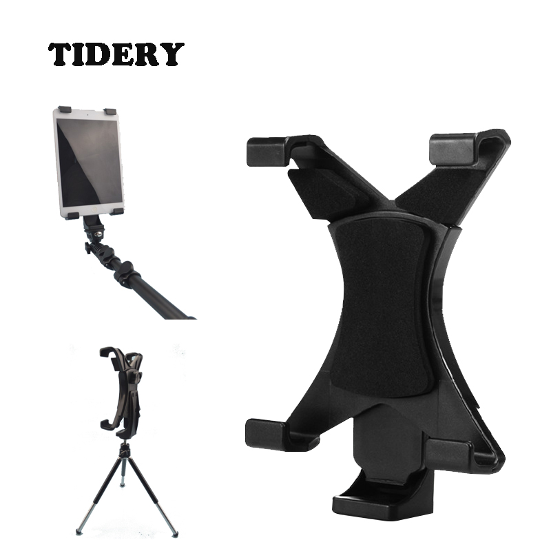 Tablet Stand Holder On Tripod Monopod Selfie Stick Universal For Tablet Samsung Ipad Lenovo 7-10 Inches Plastic Mount TIDERY