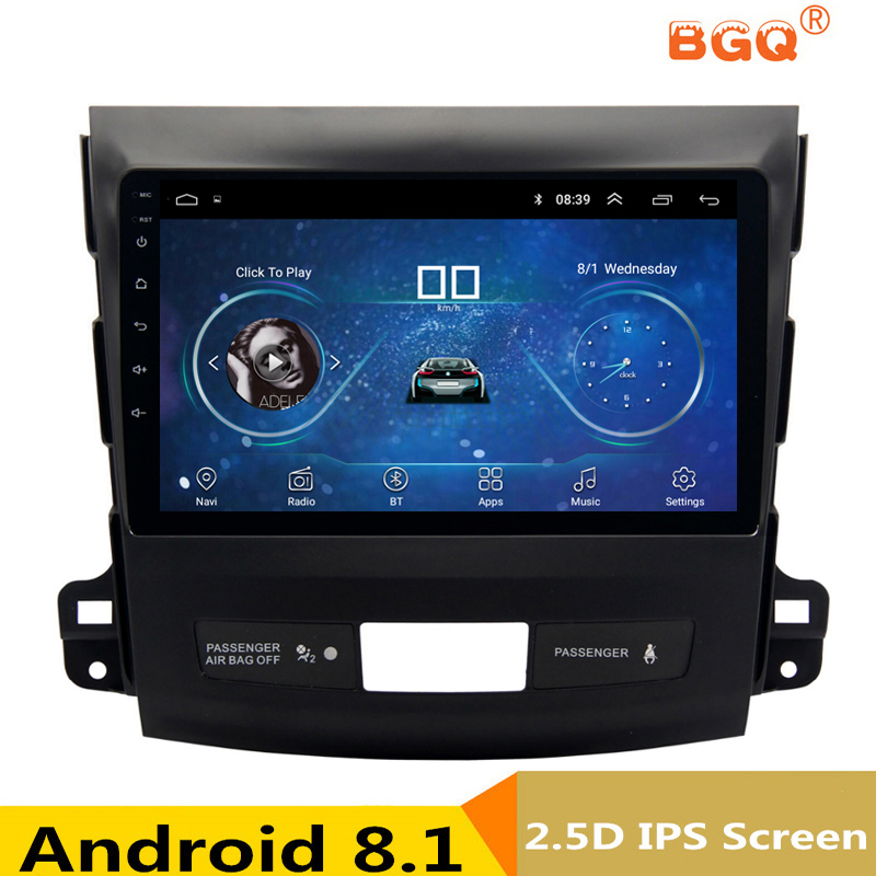 9 Android 8.1 Car DVD GPS For Mitsubishi Outlander 2006-2012/Peugeot 4007/Citroen C-Cross car radio stereo navigator bluetooth