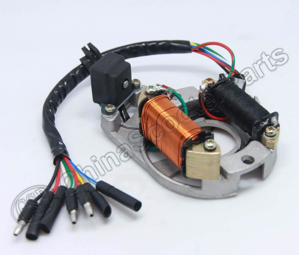 Chinese 110cc Atv Wiring Diagram Square D Qo Load Center Pit Dirt Bike Stator Ignition Magneto Plate For 50cc 70cc 90cc 125cc Taotao-in ...