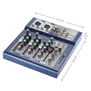 Image 3 - Muslady F4 Professionele 4 Kanaals Digitale Mic Lijn Audio Sound Mixer Mixing Console met USB Ingang 48 V Phantom power
