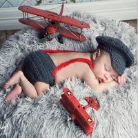 New Top Sale Super Mario Design Newborn Photography Props Handmade Crochet Baby Hat And Shorts Set