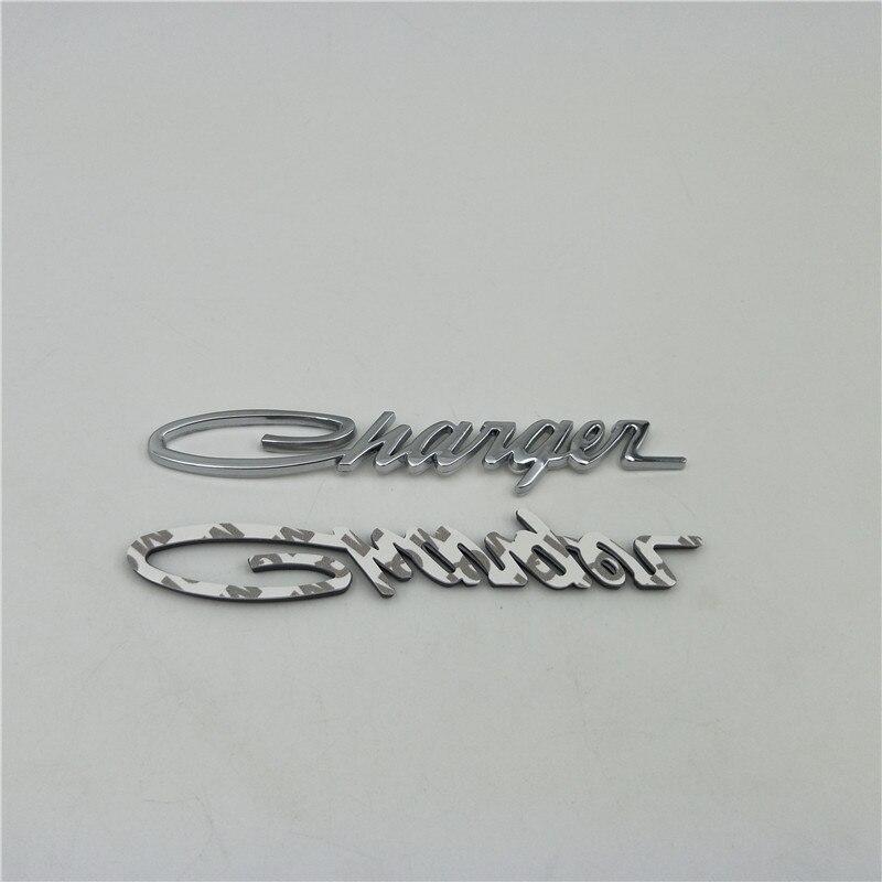 For Dodge Charger Side Fender Metal Emblem Badge Logo