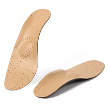 Flat Arch Foot Orthopedic X-Leg 8-Shaped Legs Correction Shoe Insole Heel Arch Support Insoles Sheepskin Leather Orthotics 39-44