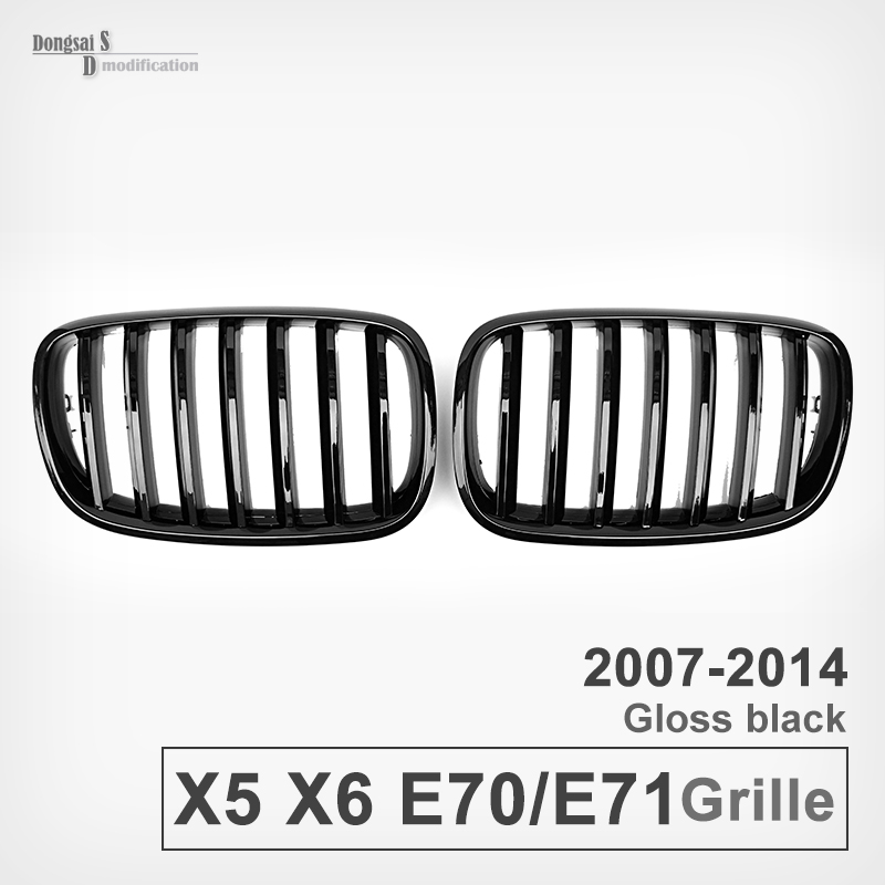 E70 E71 Front ABS grill grille For BMW X5 E70 2007 - 2013 & X6 E71 2008 - 2013 30d 40d car front bumper mesh grille around trim racing grills 2013 2016 for ford ecosport quality stainless steel