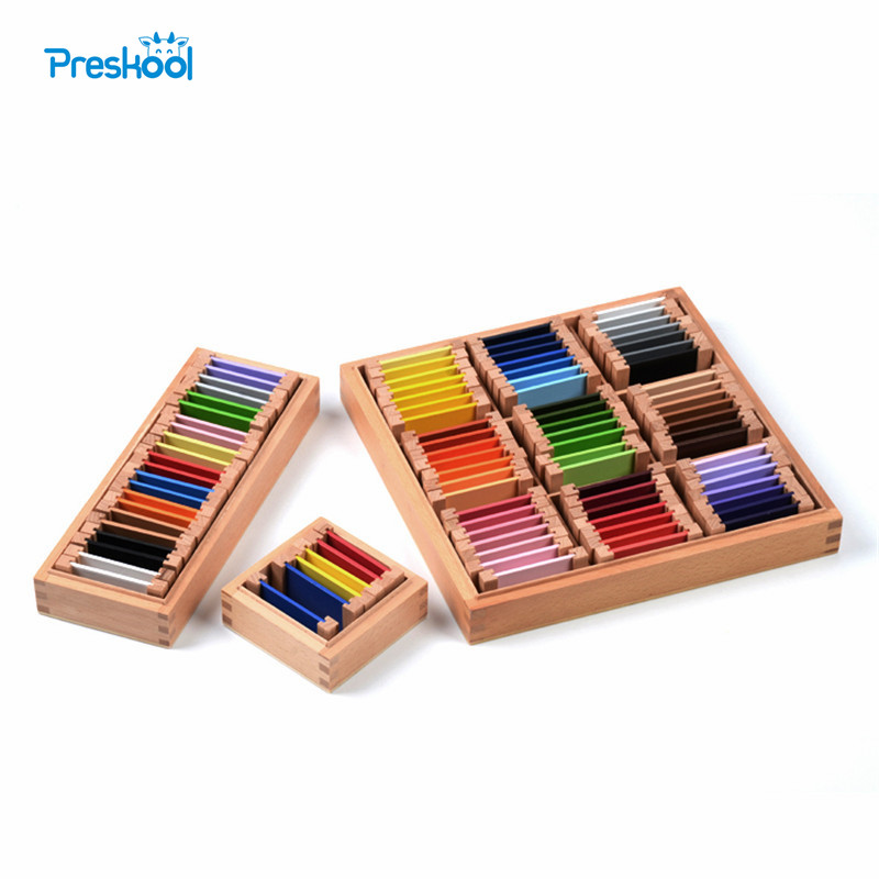 Bébé jouet Montessori 1st, 2nd, 3rd couleur tablette éducatif petite enfance éducation préscolaire formation enfants Brinquedos Juguetes