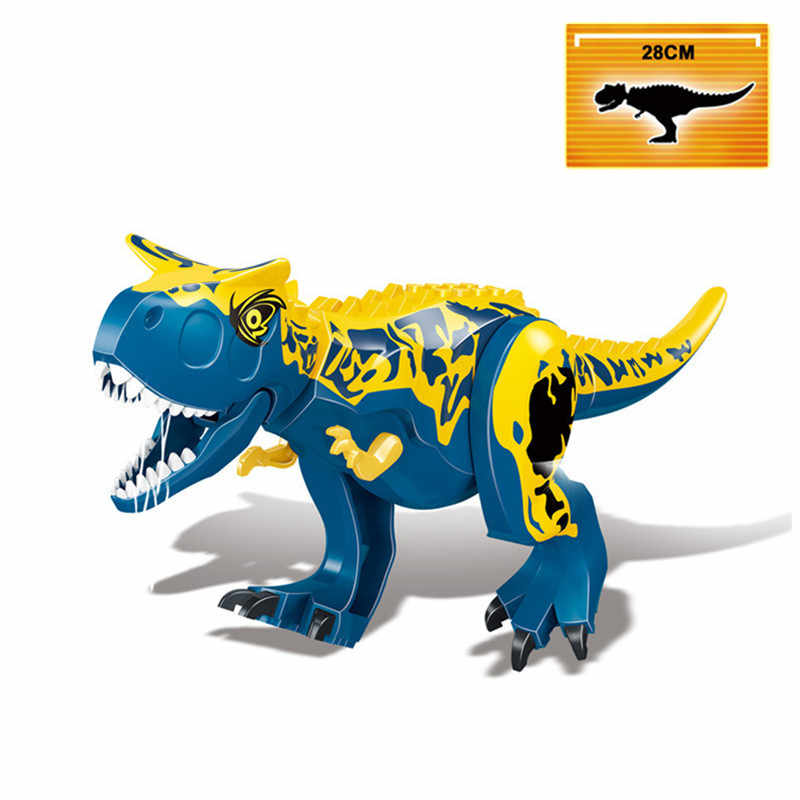 Jurassic World Dinosaur Indominus Indoraptor Animal Model Building Blocks Bricks Figures Collection Learning Toys For Children