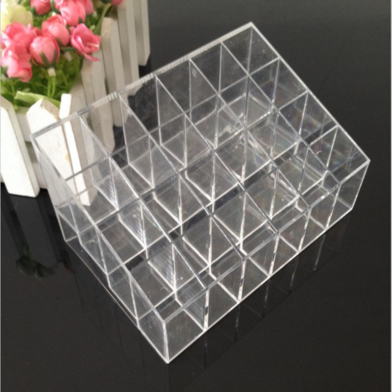 24 Grid Ring Necklace Bracelet Earrings Acrylic Jewelry Organizer Storage Box  Holder Jewelry Accessories Packaging Display