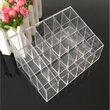 24 Grid Ring Necklace Bracelet Earrings Acrylic Jewelry Organizer Storage Box  Holder Accessories Packaging Display