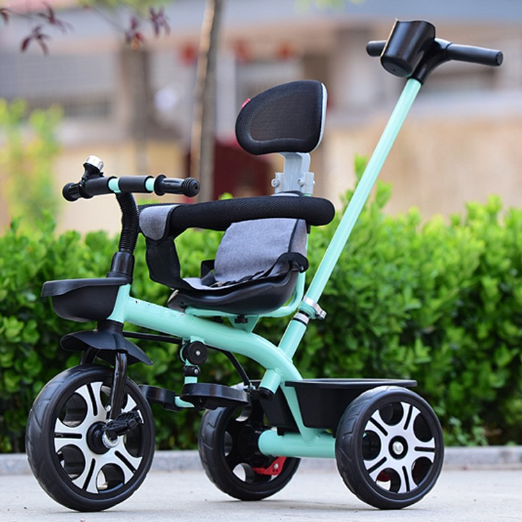 New Arrivals Safe Portable Child Tricycle Bike With Umbrella Folding Three Wheels Seat Tricycle Stroller Bicycle Baby Cart ...