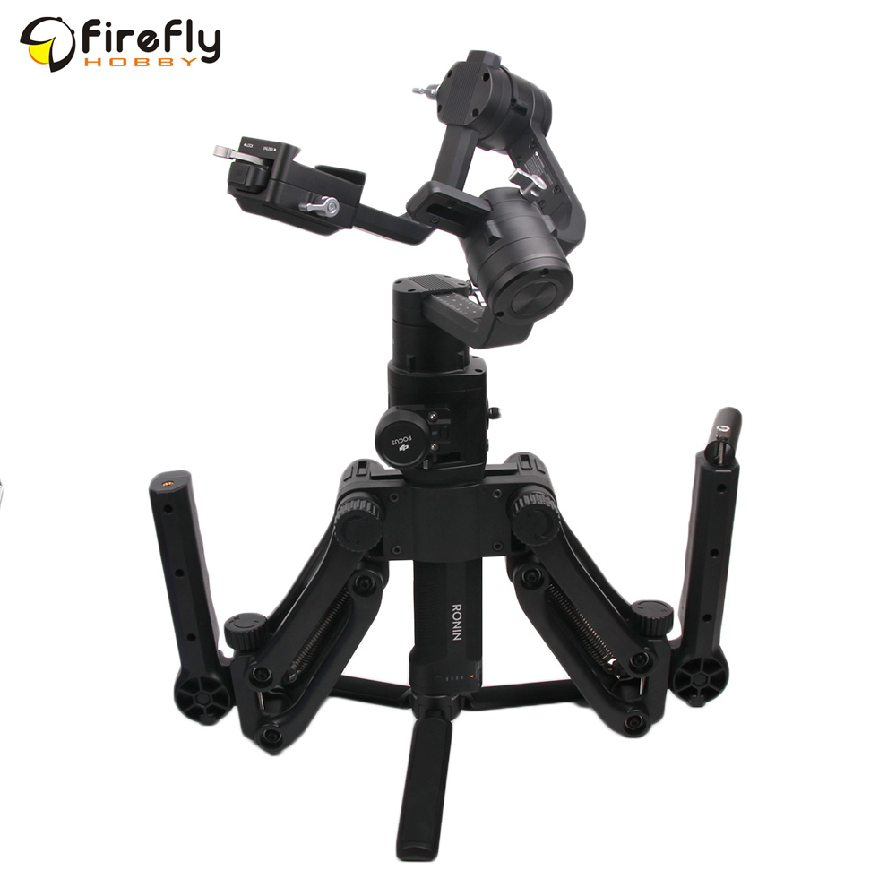 Extended Bracket Holder Dual Handheld Gimbal Stabilizers for DJI Ronin S OSMO/ OSMO Mobile/ 2 alloyseed dual handle grip gimbal hold arm for dji osmo osmo mobile mobile 2 ronin s