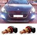 2 шт. H11 Светодиодные 33SMD 10 Вт Противотуманные фары Вождения DRL Автомобилей свет для Peugeot 301 2013-2014 Peugeot 3008 2011-2013 Peugeot 407 2008