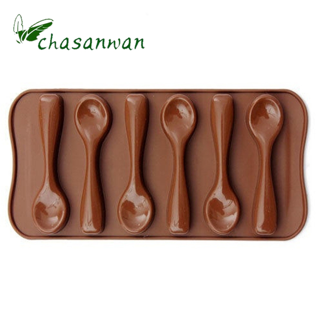 Chocolate Six Spoons Mould Silicone