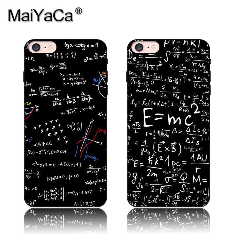E=mc2 math formula Black Soft TPU silicone Phone Case Accessories Cover For iPhone 5s 6s 7 plus case