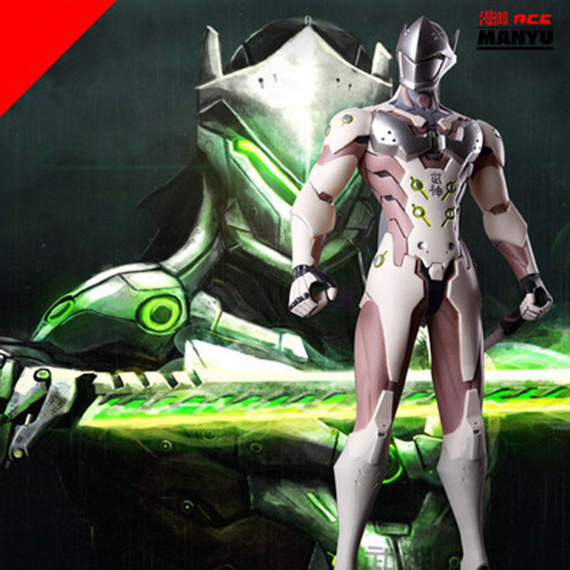 ФОТО The most popular games of 2016 OW Hero model 28cm PVC Genji model Collection edition Hands do toys cartoon game around