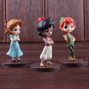 Image 3 - QPosket Q Posket Petit Characters Fantastic Time Aladdin Wendy Peter Pan Toy Figures PVC Action Figure Kids Toys Dolls 3pcs/set