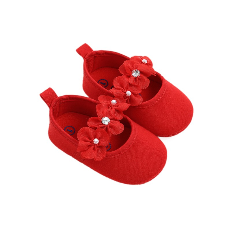 Spring  Autumn Newborn The First Walker Shoes Baby Girl Beautiful Flowers Princess Shoes Children's Toddler Shoes