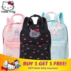 6029c8703051 Kawaii Cartoon Pink Hello Kitty Backpacks Cute My Melody Backpacks Girls  Small Bags Children Schoolbag Kids