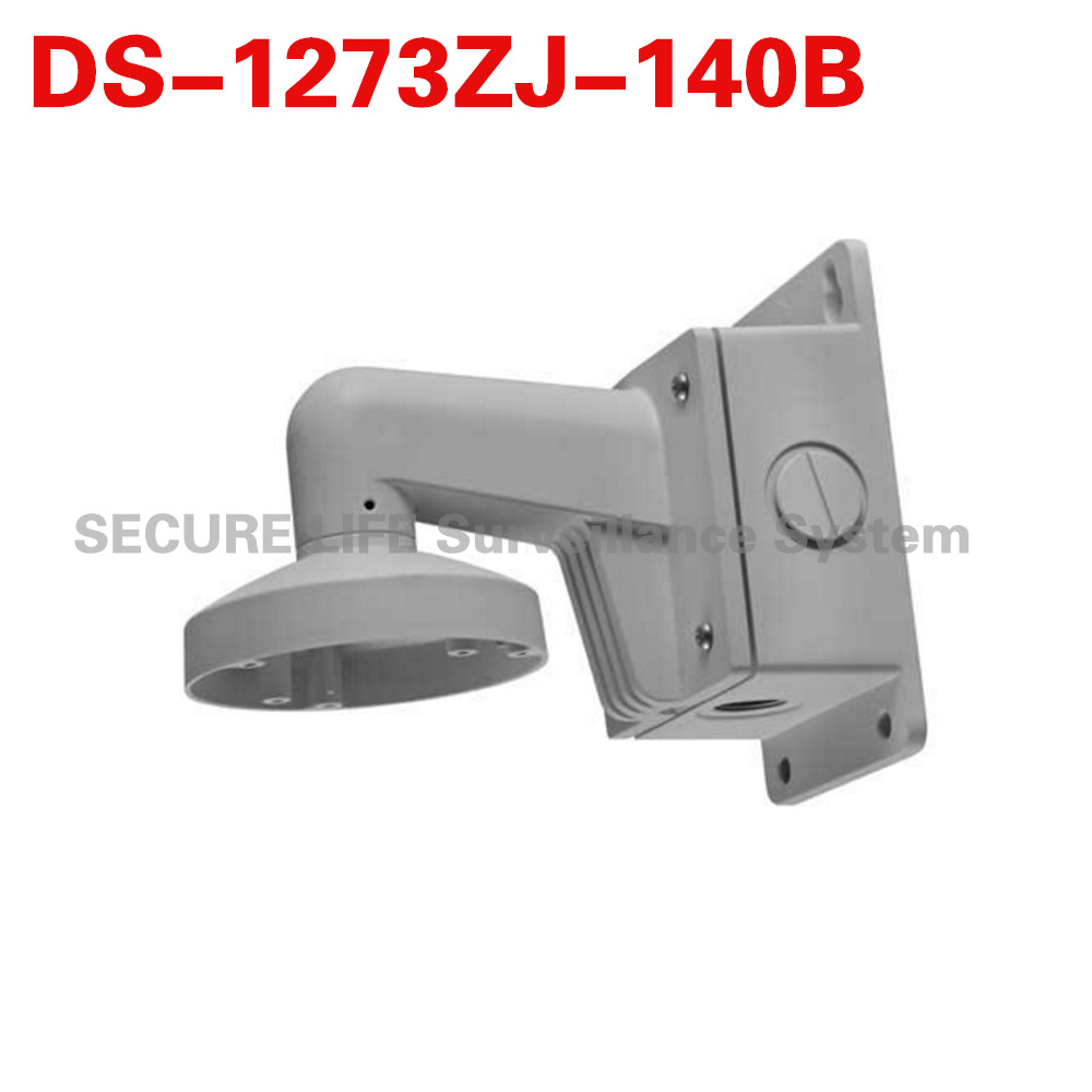DS-1273ZJ-140B Wall Mounting Bracket for Dome Camera with Junction Box ds 1602zj box corner ptz camera bracket corner mount bracket with junction box