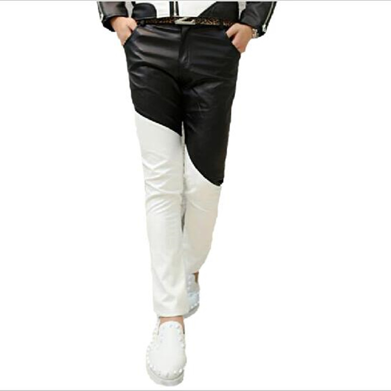 men harem pants 2017 korean fashion men skinny leather