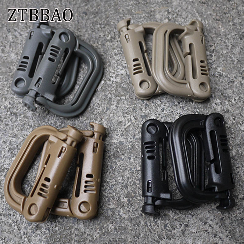 1PC New Hot Molle Backpack EDC Shackle Carabiner Snap D-Ring Clip KeyRing Locking Wholesale