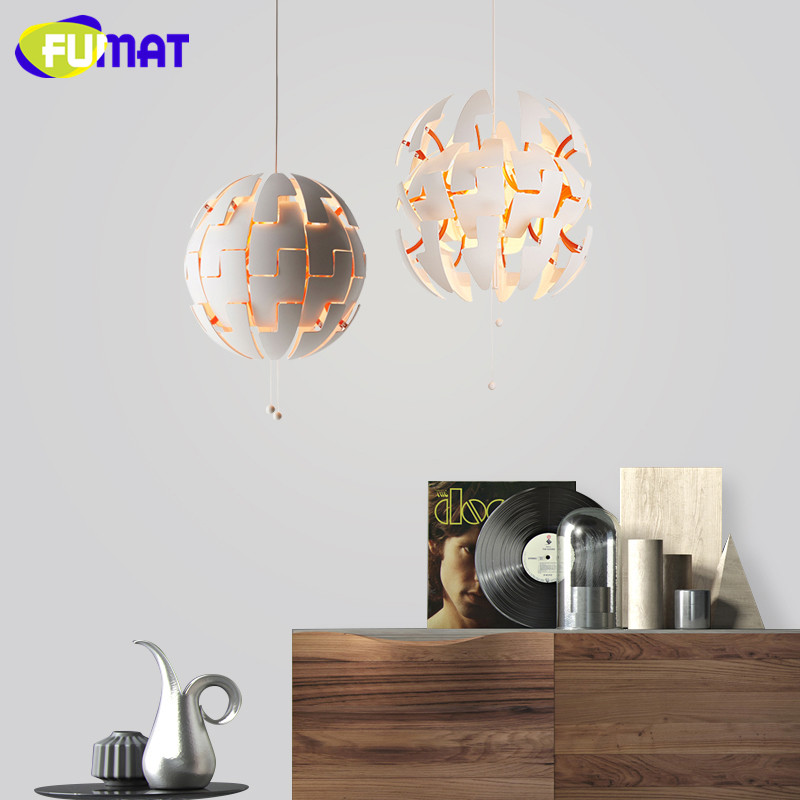 FUMAT Explosion Hanging Lamp Nordic Modern Restaurant Living Room Light Cafe Art Deco Pendant Lamp White Globe Pendant Lights