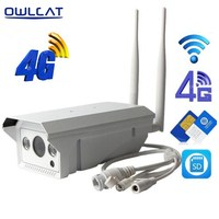 Owlcat Full HD 1080P 3G 4G SIM Card Wireless IP Camera 2MP Outdoor Waterproof AP 128G